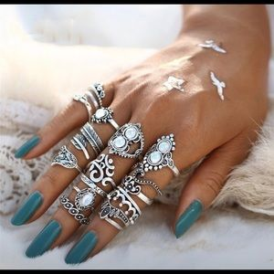 16pc Boho Festival Ring Set